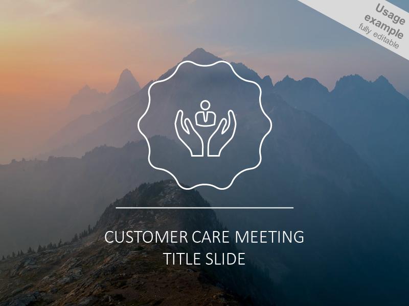 Customer care meeting headline slide