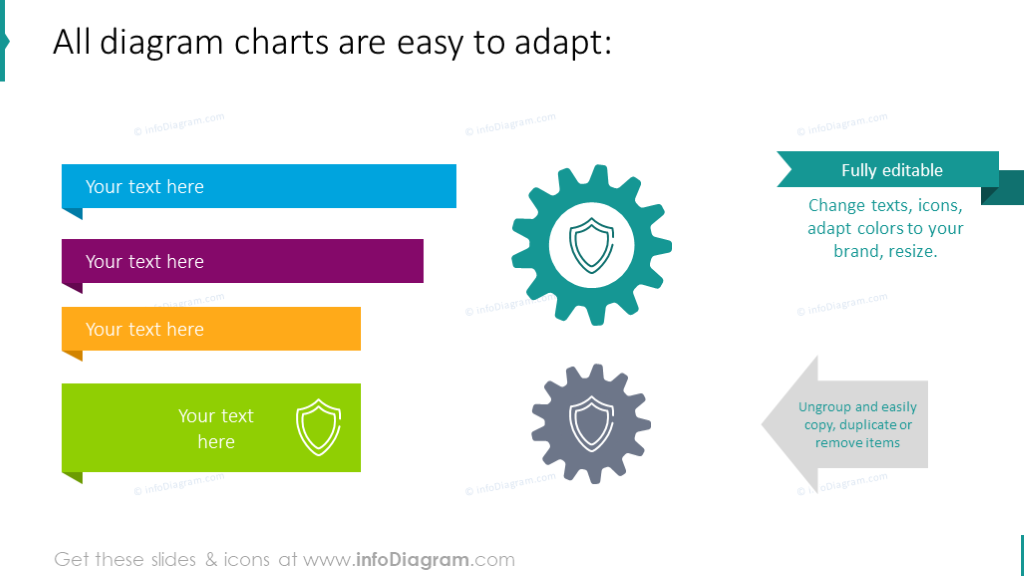 Data protection PowerPoint shapes