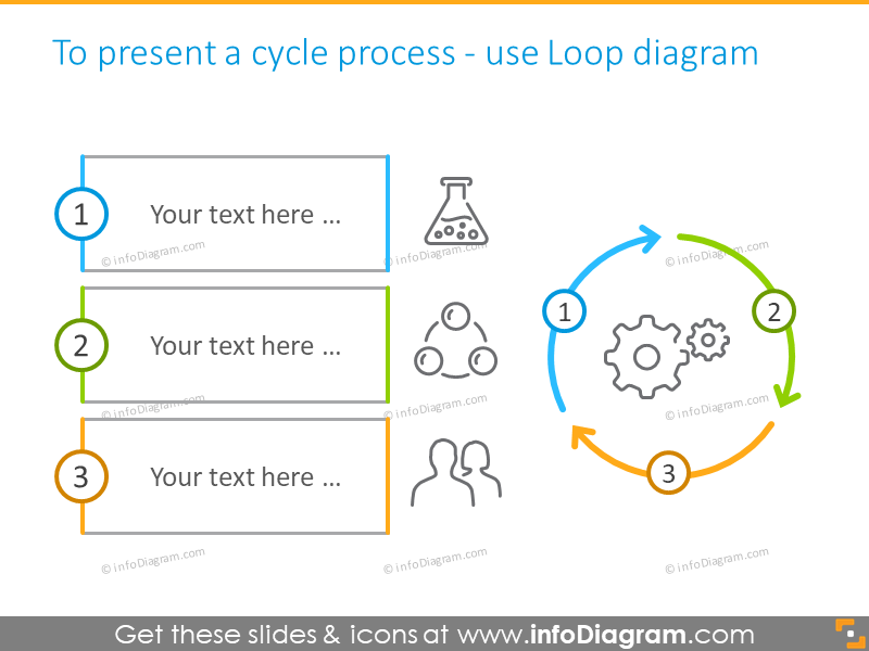 three circles infographics template slide