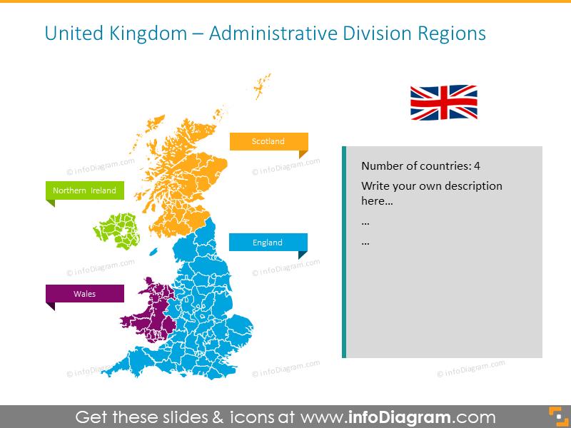 Map Of Ireland United Kingdom.British Isles Maps Of Uk Counties Ireland Ppt Editable