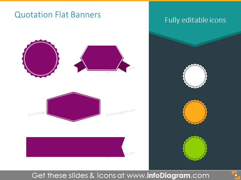 Quotation flat banners