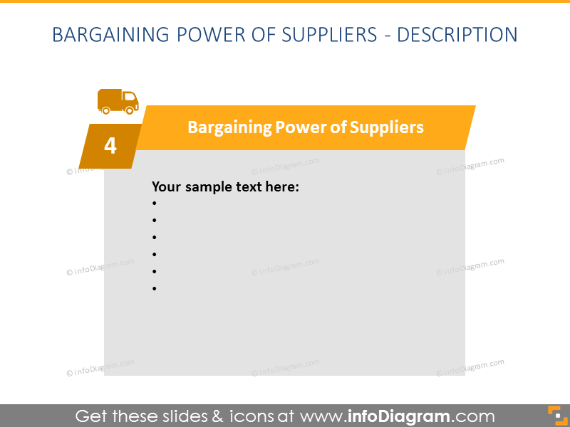 Suppliers Porter Force Model Diagram graphics