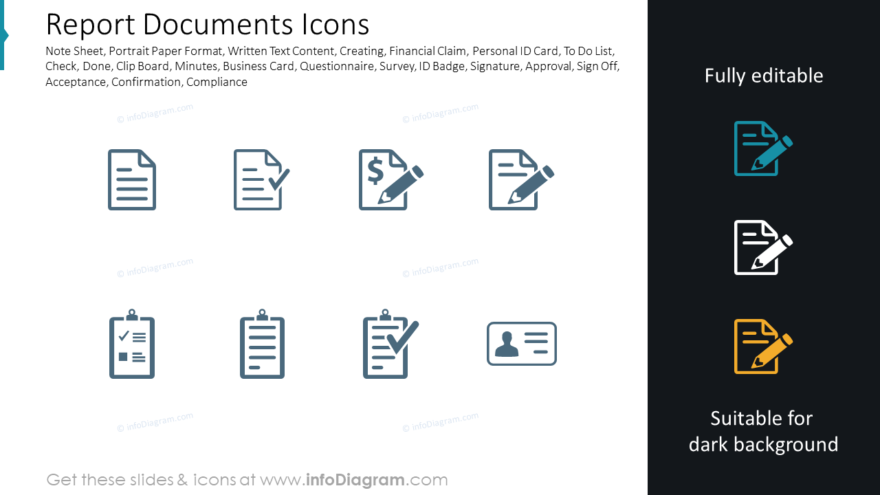 Report Documents Icons