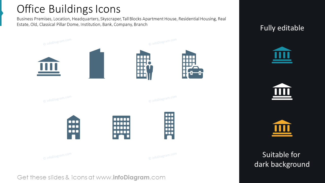 Office Buildings Icons
