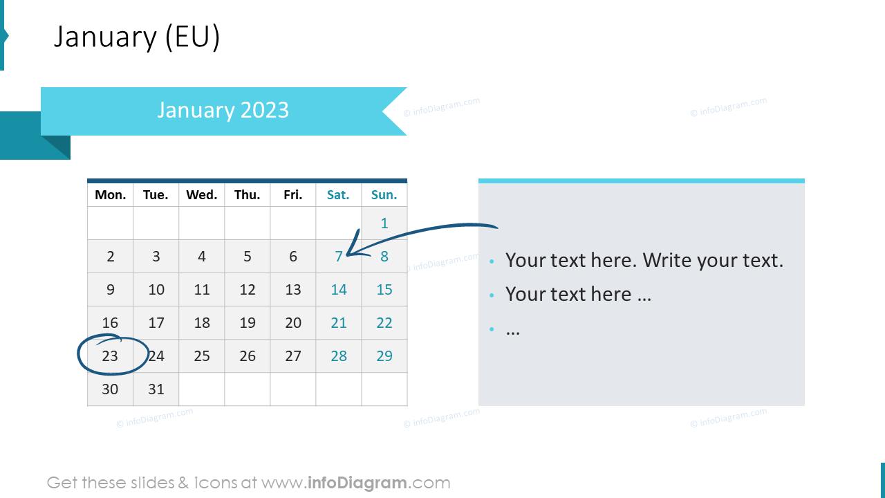 February 2022 EU Calendars
