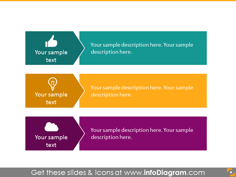 3 items bulletpoint diagram infographics  powerpoint