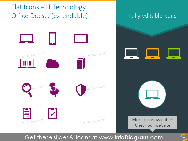 IT Technology, Office Docs icons