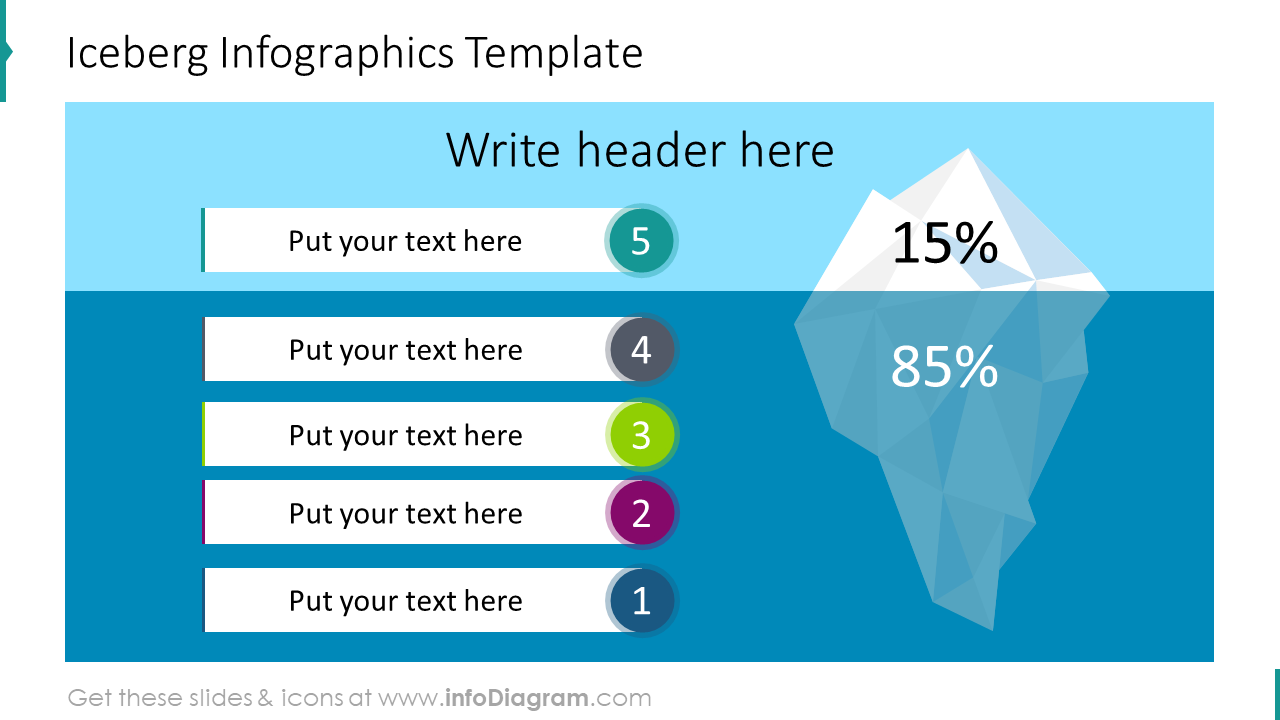 Iceberg infographics template