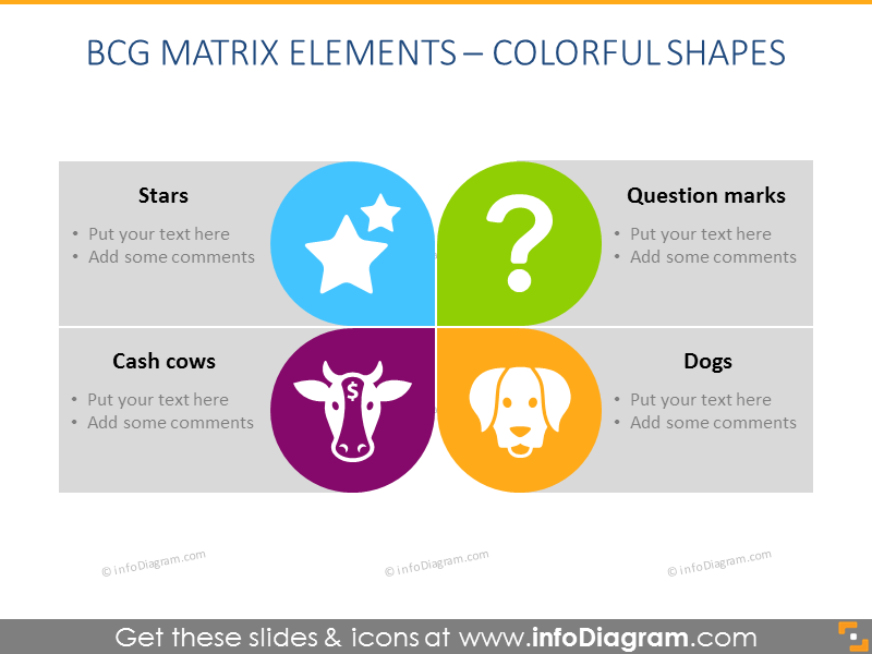 BCG Matrix Elements: Colorful Shapes