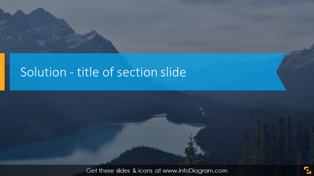 Solution section with webinar title