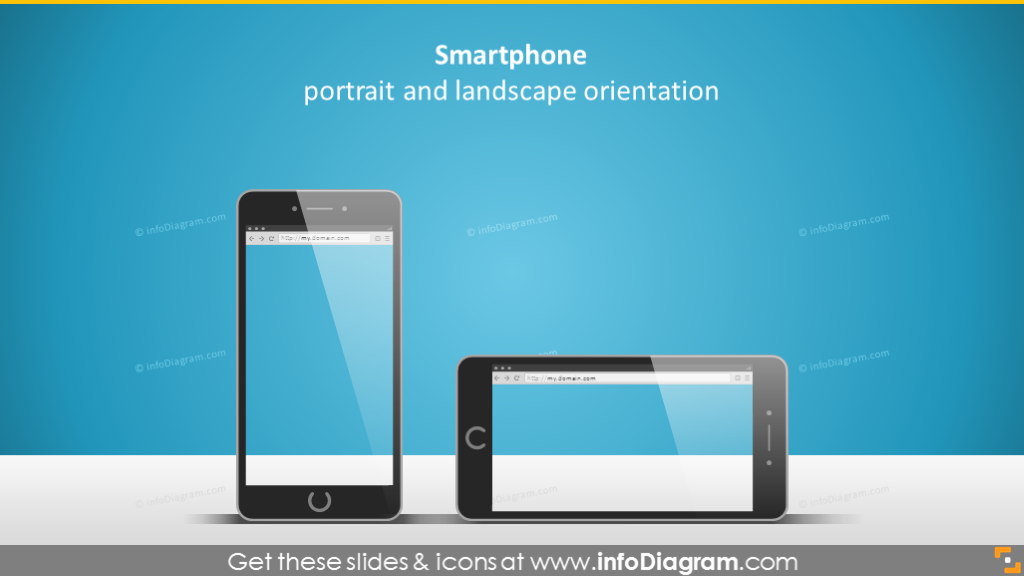 smartphone screen mockup mobile display landscape pictures screen ppt