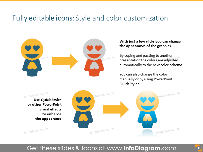 Symbols style and color customization