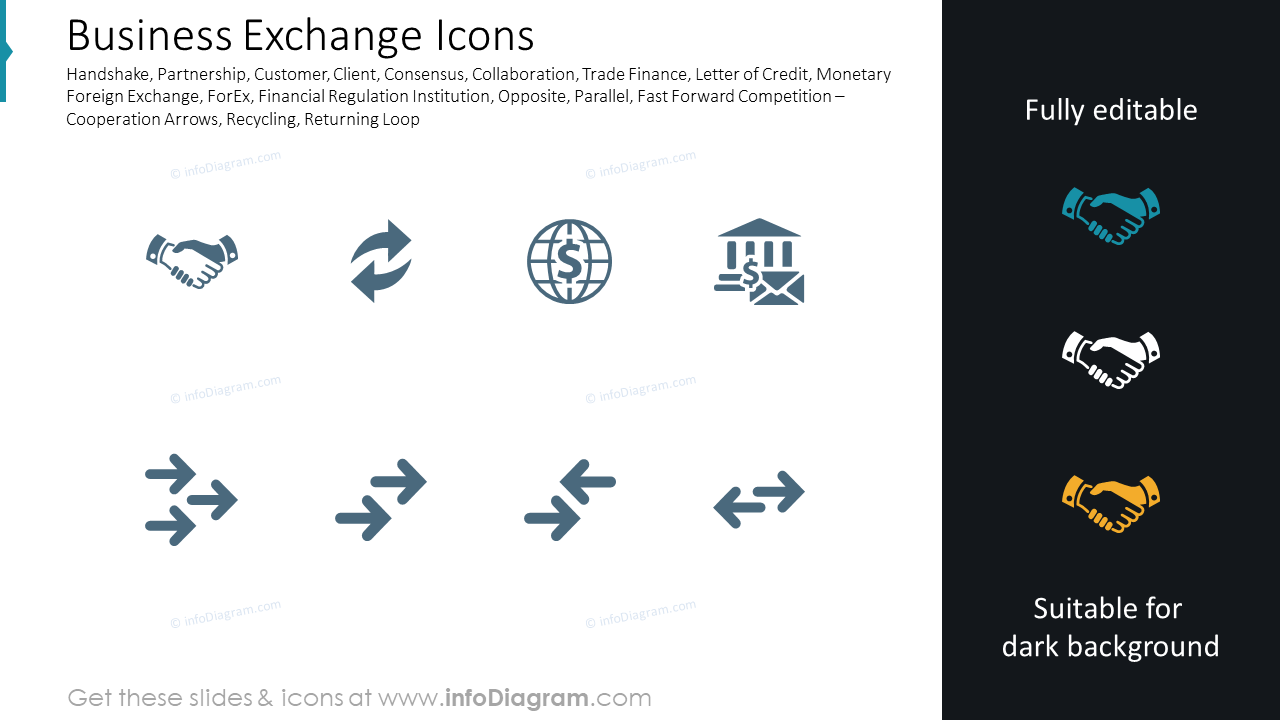 Business Exchange Icons