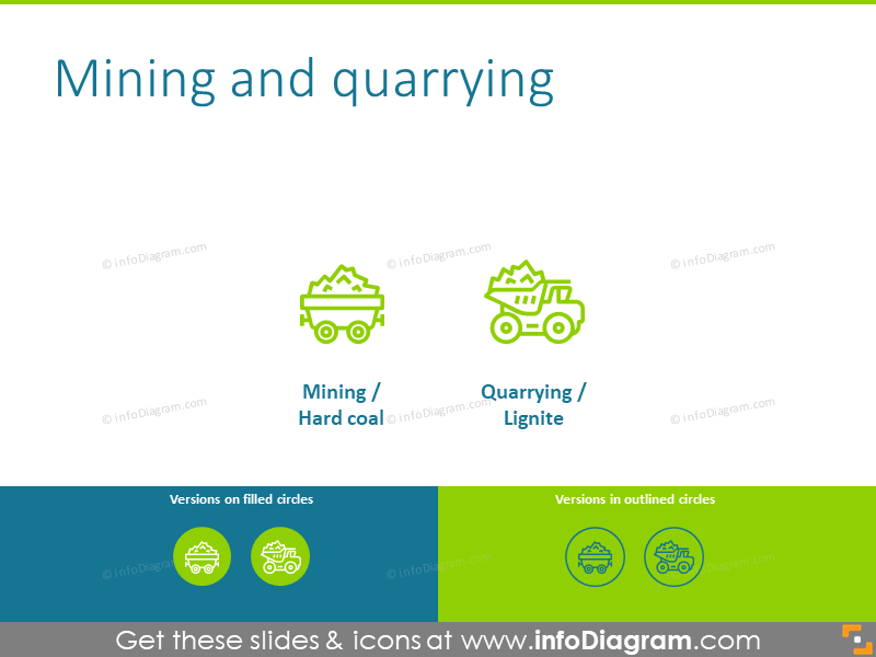 Mining and quarrying icons