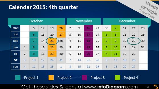 Dark school calendar 2015 quarter pptx