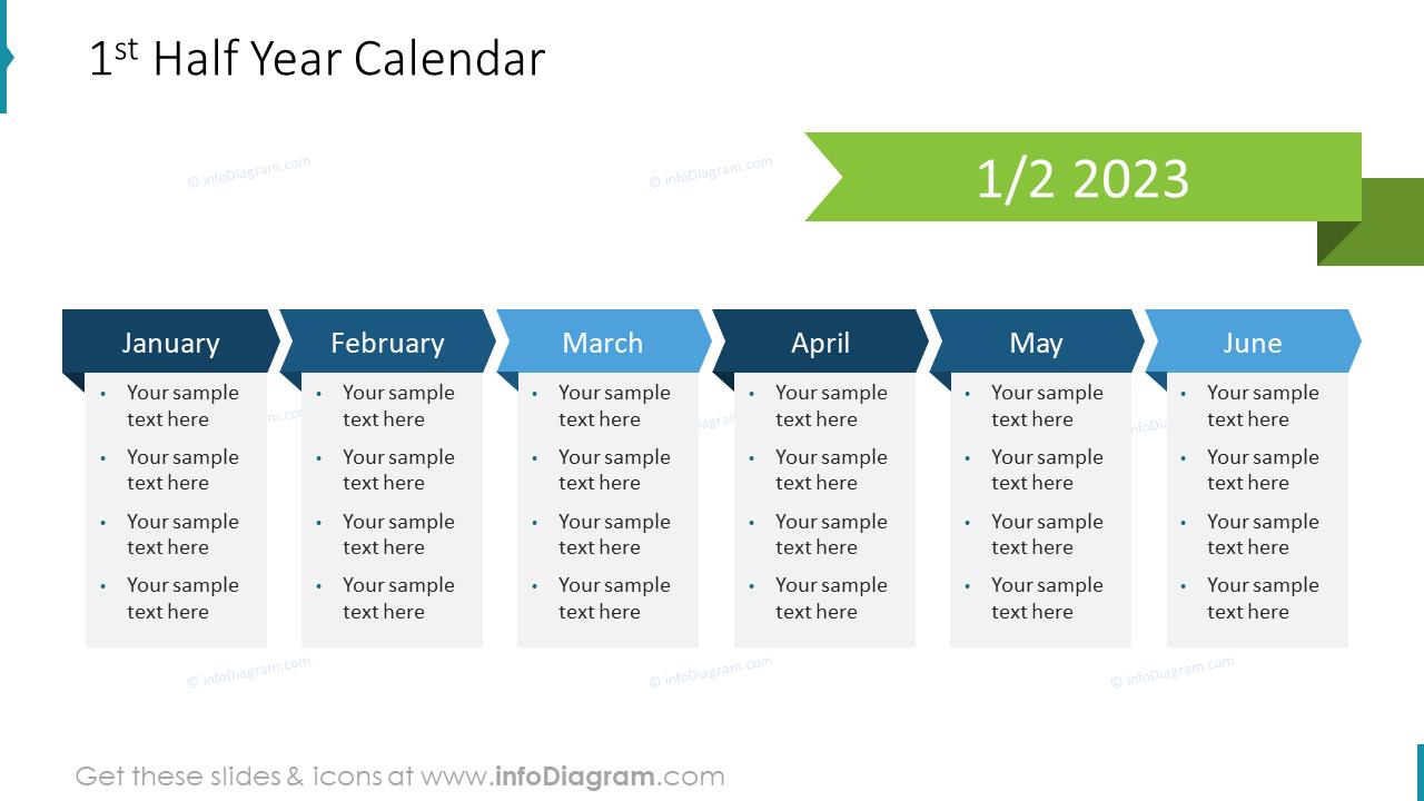 1st Half Year US Calendar