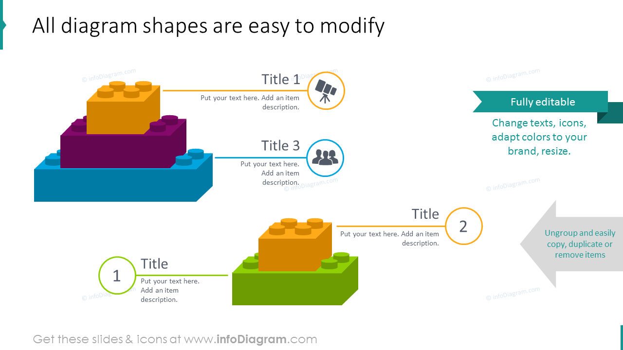 Simple modification  of all diagram shapes