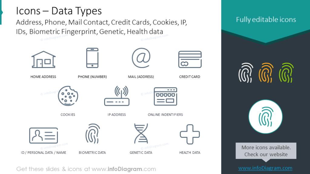 Data types icons
