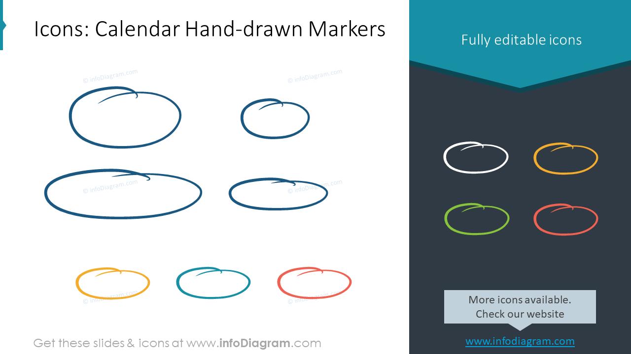 Calendar US Handdrawn Markers