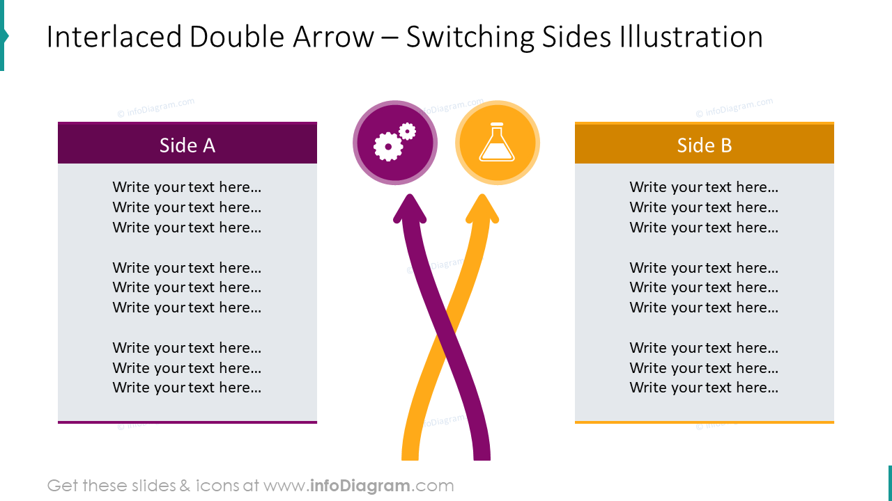 Interlaced projects light arrow diagram