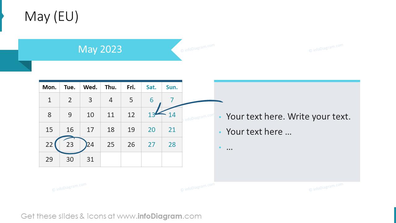 June 2022 EU Calendars