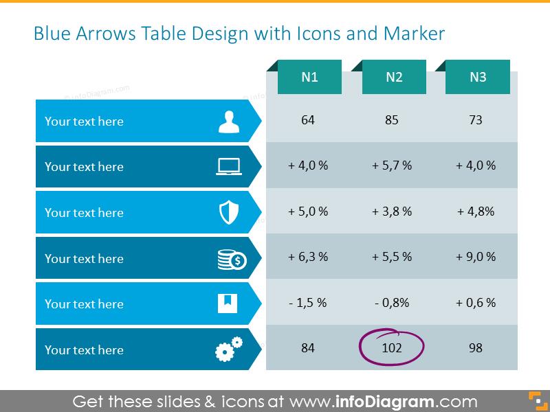 Monolor Arrows-shaped Table
