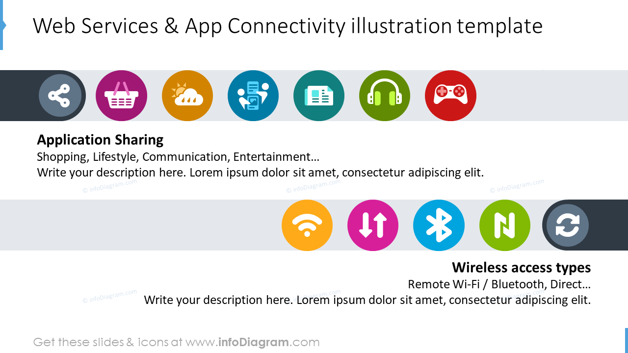 Web services and app connectivity illustration slide