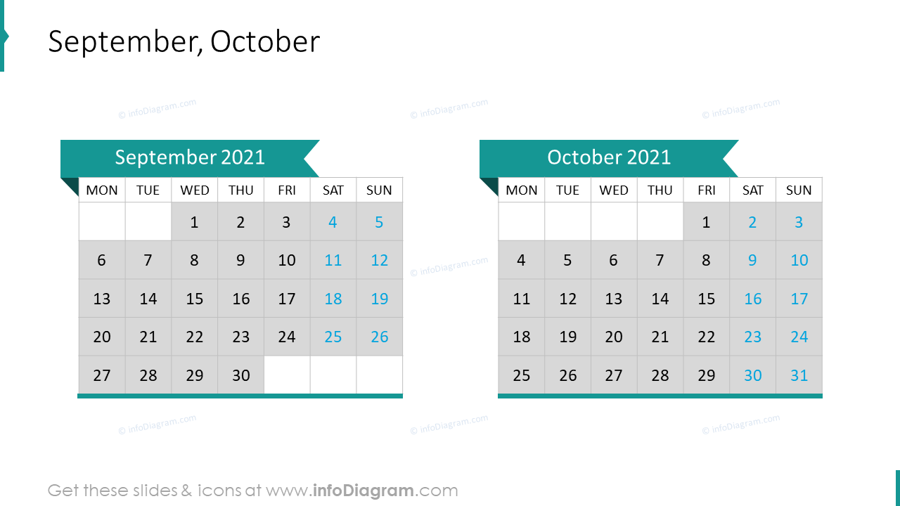 September October 2020 EU Calendar