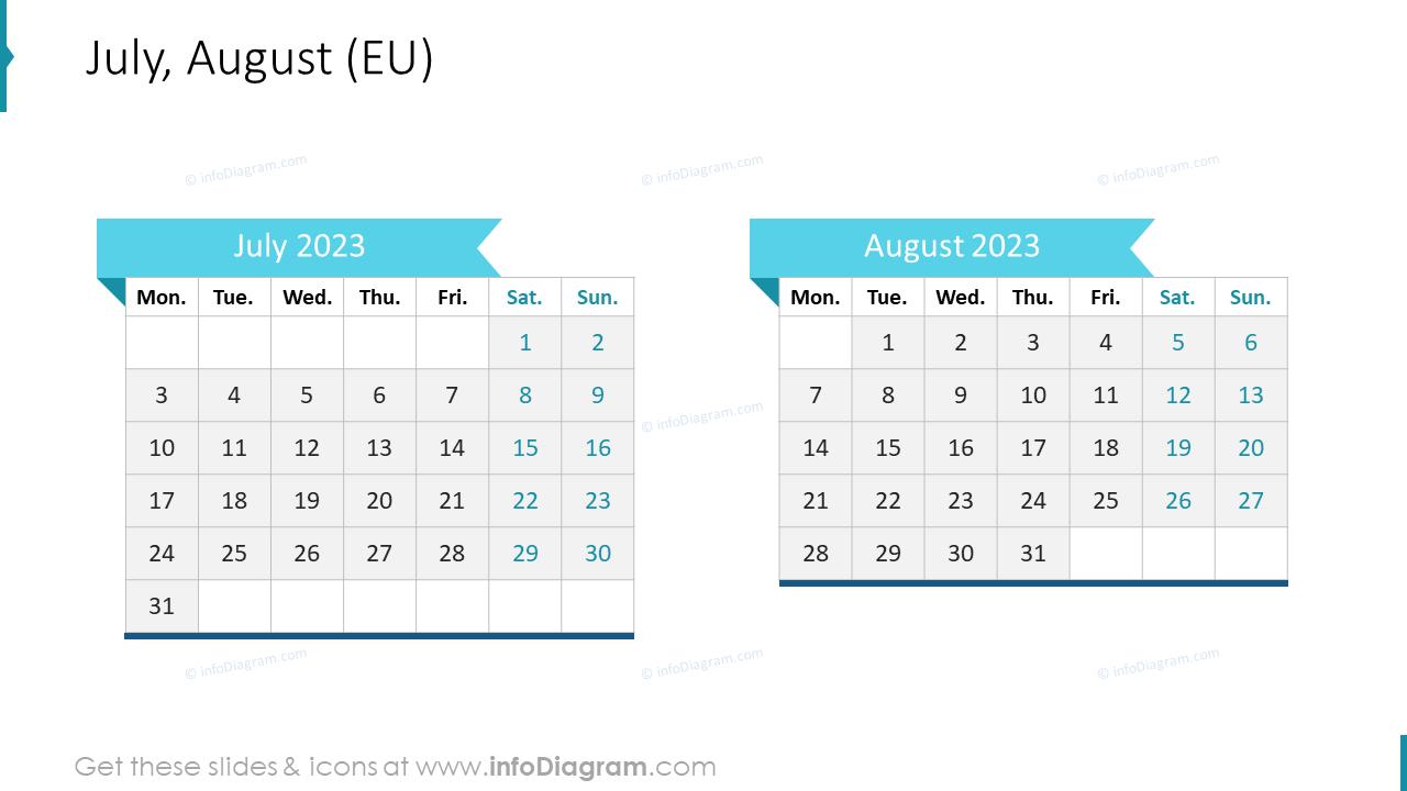 September October 2022 EU Calendar