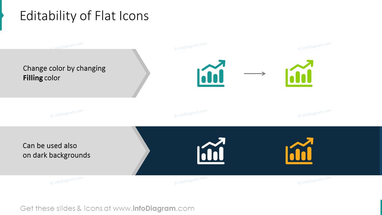 Editability of flat financial icons