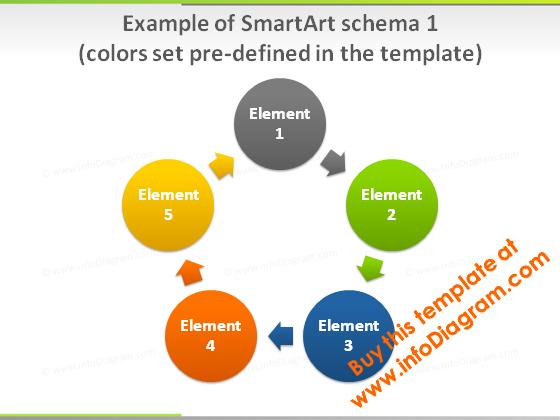 smartart_1_colors_slide_green_light_pptx_template
