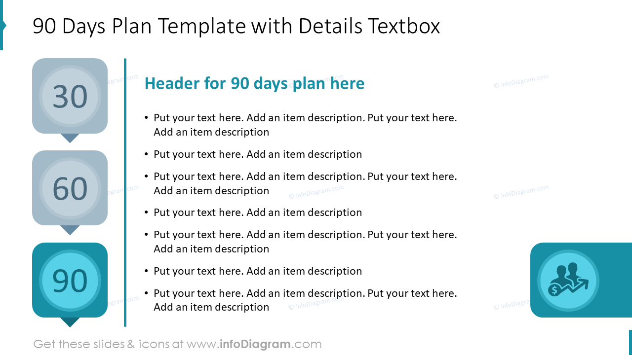 90 Days Plan Template with Details Textbox