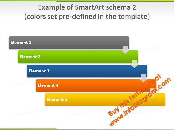 smartart_2_colors_slide_green_light_pptx_template