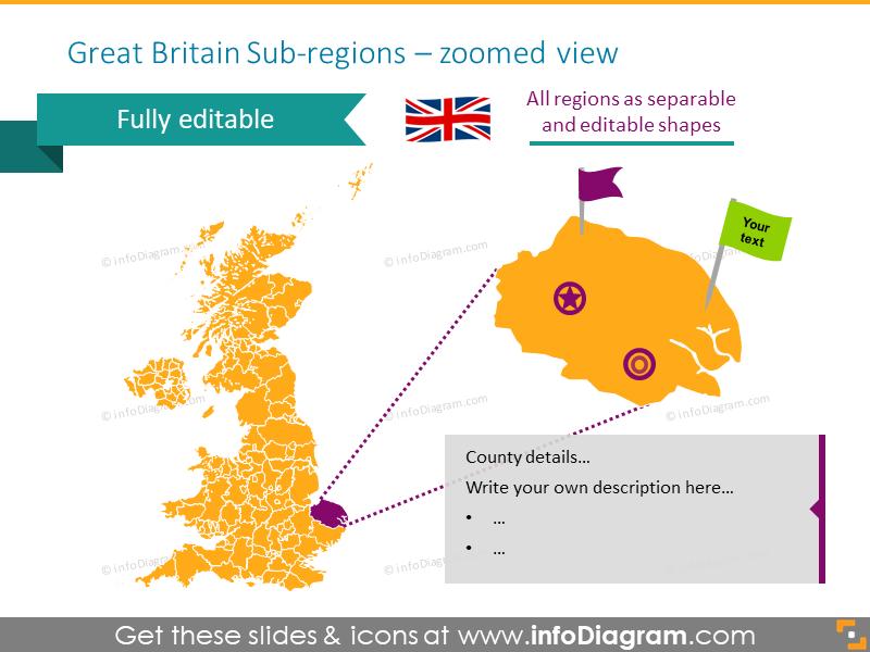Example of Great Britain sub-regions map
