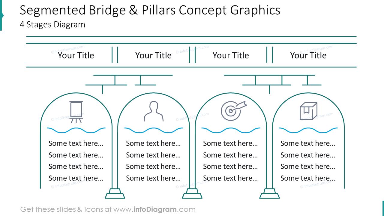Segmented bridge and pillars concept graphics