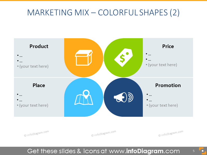 Marketing Mix template – Colorful Shapes 2