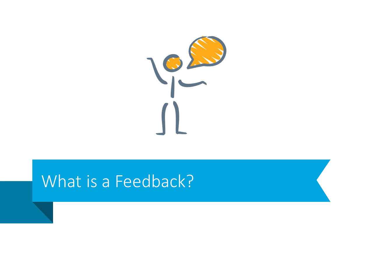 What is feedback definition transition slide stripe