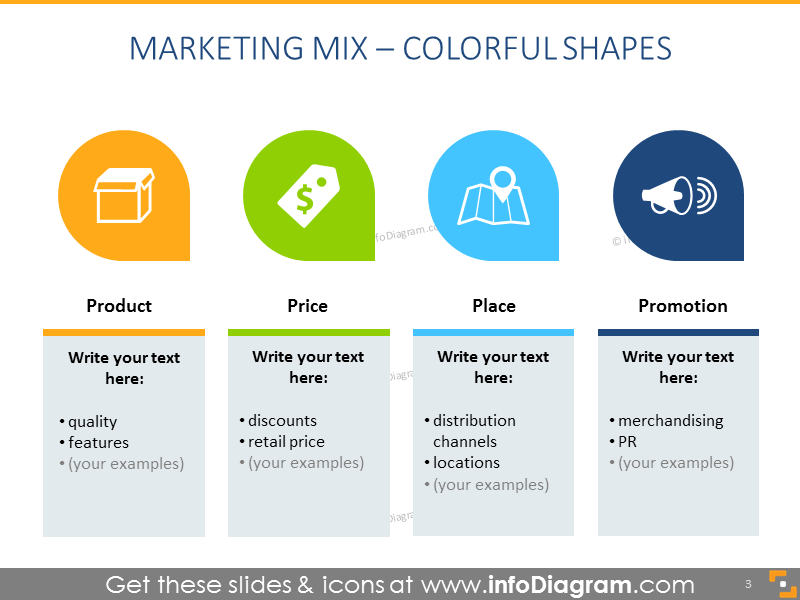 Marketing Mix – Colorful Shapes