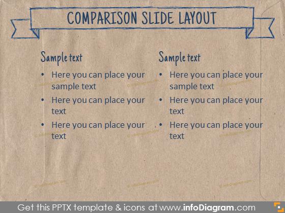 comparison layout slide ecopaper brown template pptx