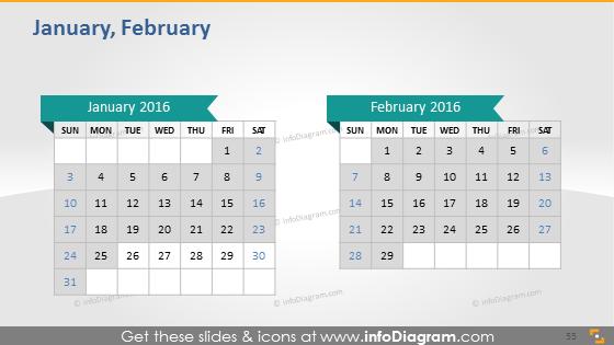 January February school calendar 2016