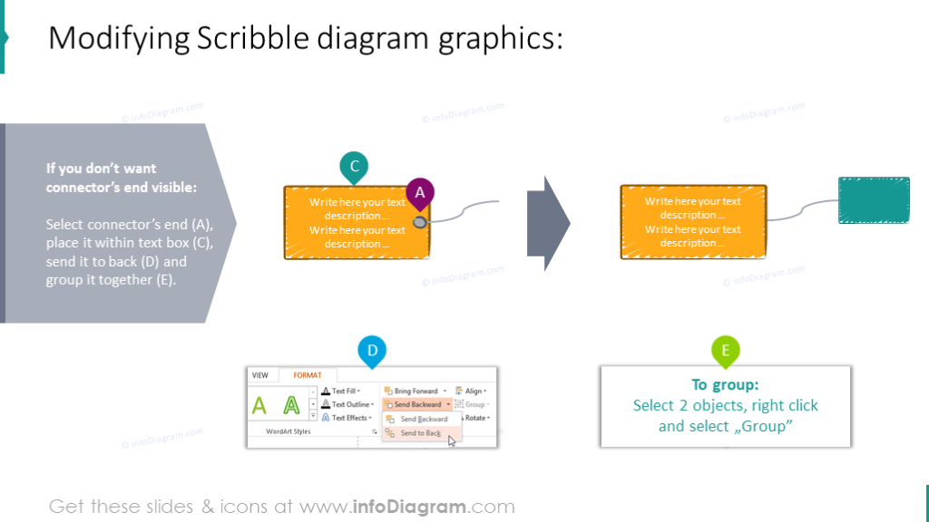 Example of modifying scribble diagrams