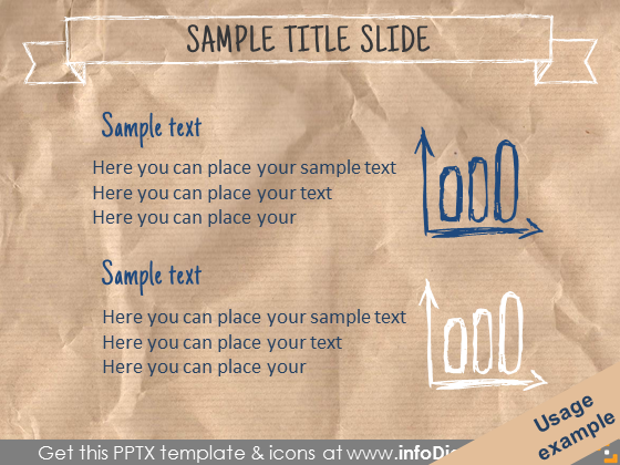 standard text slide two pencil drawn chart icons