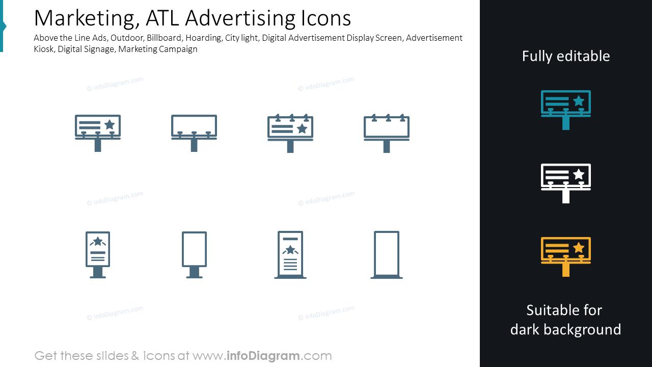 Marketing, ATL Advertising Icons
