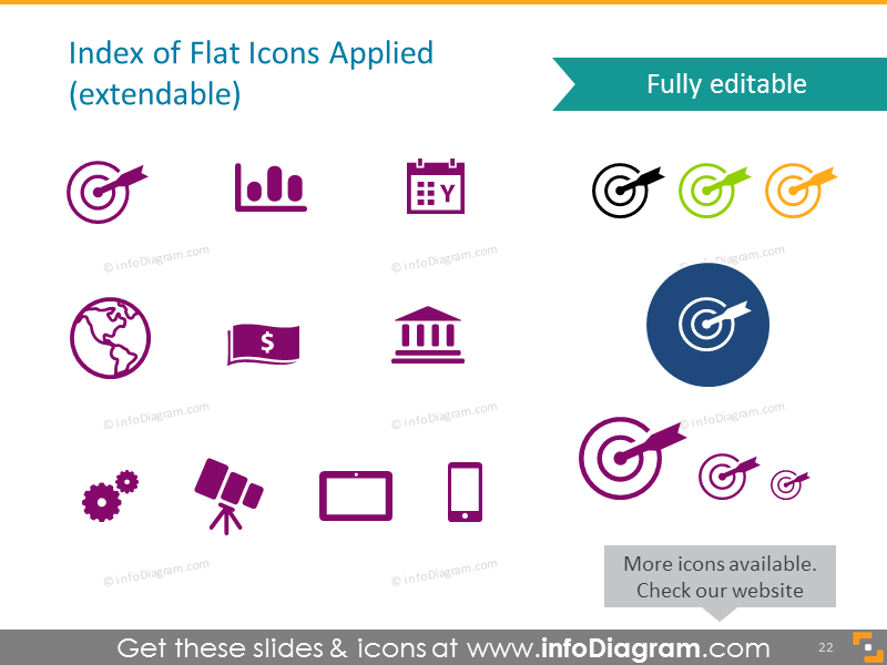 Infographics List Ppt Diagrams Icon Pictogram Flat