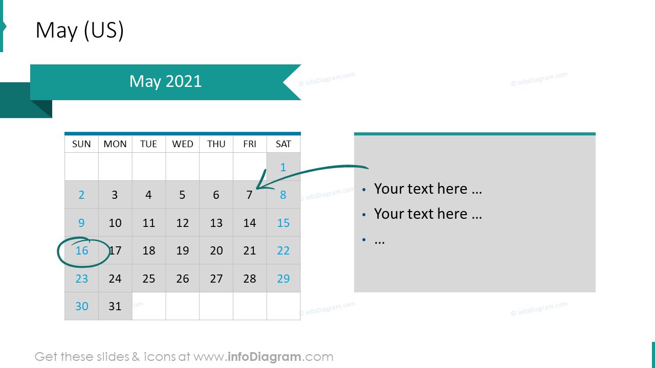 May 2020 US Calendars