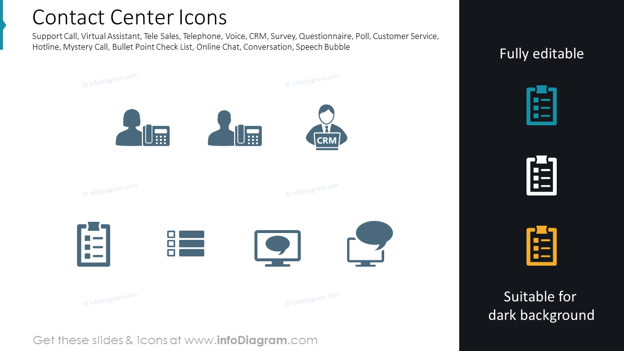 Contact Center Icons