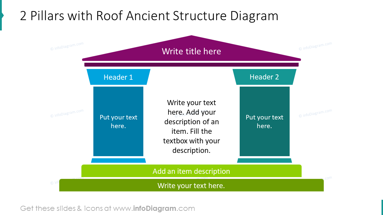 2 pillars with roof ancient structure diagram