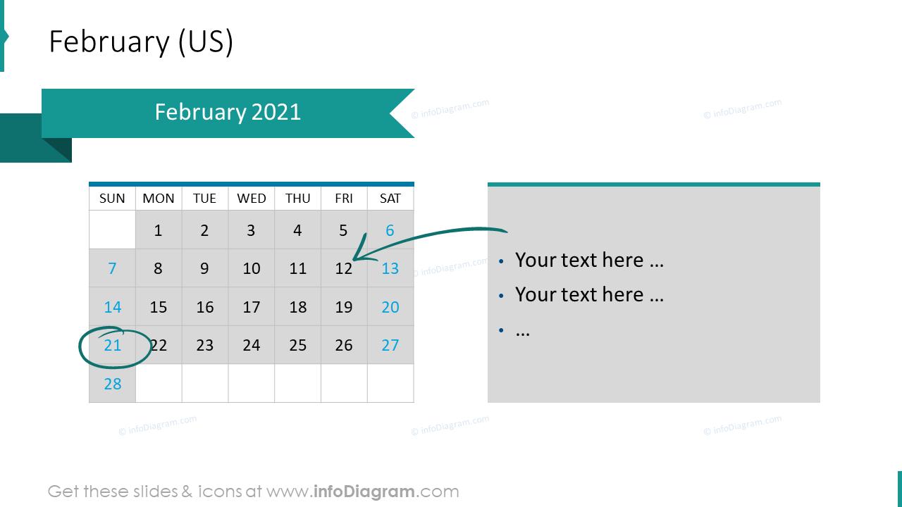 February 2020 US Calendars