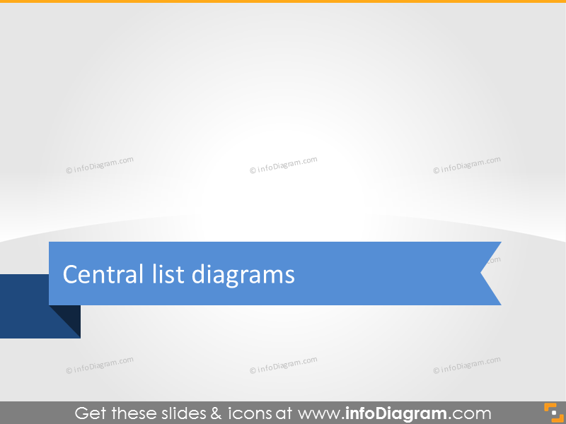 central list diagrams section slide presentation