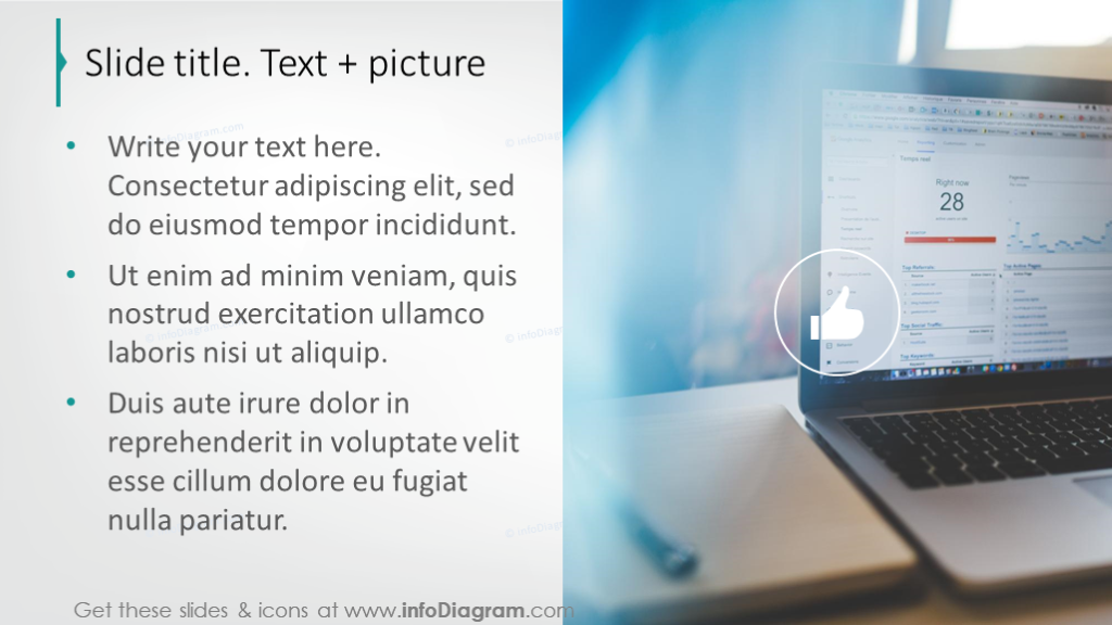 Text slidewith creative  picture